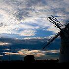 Norfolk Broads Mill  by Studio95