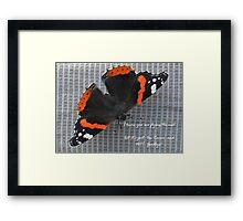 Au Revoir Butterfly card Framed Print