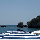 Sea of Brollies, Taormina Mare by Matthew Walters