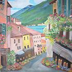 Bellagio Town by Teresa Dominici
