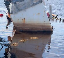 Reflection of sunken boat by Katherine Maguire