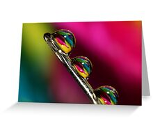 Tropical Droplets Greeting Card