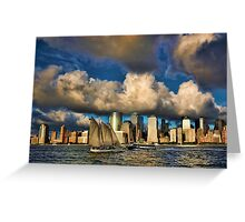 Low Clouds Over Lower Manhattan Greeting Card