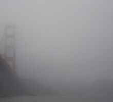 Golden Gate Bridge, The Fog by kraftseins