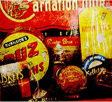 Old tin signs and boxes..... by Deb Gibbons