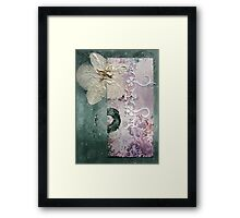 The Moth Orchid Framed Print