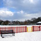 Oatlands Recreation Ground in Snow by Rachael Talibart