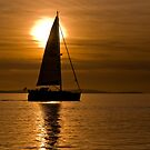 &quot;Calm Waters&quot; - GBR Sailing Boat at Lepe beach Hampshire by silvcurl09