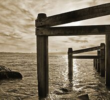 """Barrier"" - Shore defence at Hurst Castle Hampshire by silvcurl09"