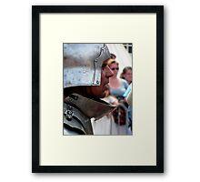 Focussed warrior Framed Print