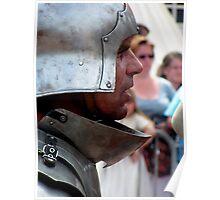 Focussed warrior Poster