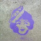 Blue Sailor Girl (stencil graffiti) by Steve Campbell
