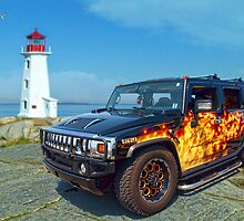 Hummer on the Rocks by kenmo