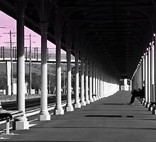 Albury Train Station Platform by Petehamilton