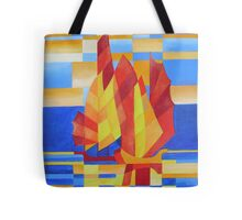 Sailing on the Seven Seas so Blue Cubist Abstract Tote Bag