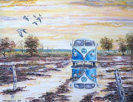 Volkswagen camper / After the rain. by Joe Trodden