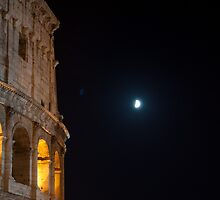 Colosseum in a night of half moon by Antonio Paliotta