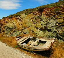abandon Greek boat by photojam