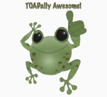 Toadally Awesome! Cartoon toad with thumb up! by graphicdoodles