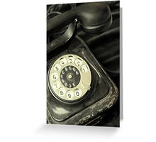 Old Telephone Greeting Card