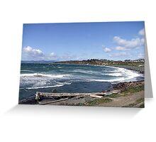 Whitecaps on the Beach Greeting Card