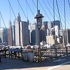 Lower Manhattan seen from the Brooklyn Bridge by Patricia127