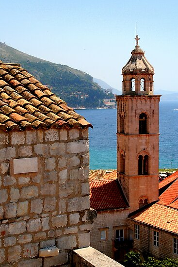 Church Overlooking the Dubrovnik Harbor by Laurel Talabere