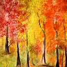 Colors of the Fall- Watercolor painting by Esperanza Gallego