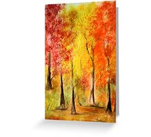 Colors of the Fall- Watercolor painting Greeting Card