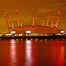 London Millennium Dome Lights at night by DavidGutierrez