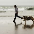 Beach, Boy, Dog by EchoNorth