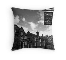 The Railway Tavern, Holt Throw Pillow