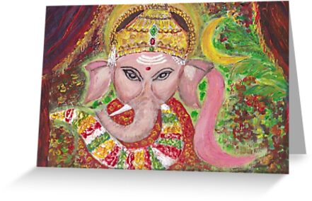 Lord Baby Ganesha  by Mary Sedici