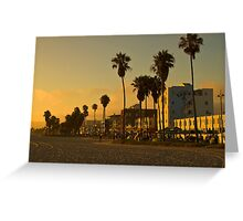 Dusk on Venice Beach, California Greeting Card