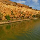 sand stone cliffs river murray  by bobby1