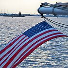 American Flag Flying by kodakcameragirl