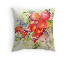 Rosehip Bounty Throw Pillow