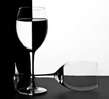 Wine glasses in mono by KathyT