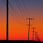 Electric Skies Oakey Qld Australia by Beth  Wode