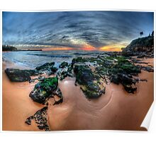 Love On The Rocks - Warriewood Beach, Sydney (35 Exposure HDR Panorama- The HDR Experience Poster