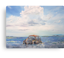 VW Beetle in need of T.L.C. Canvas Print