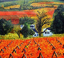 Vineyards in Autumn by Pieta Pieterse