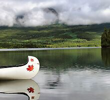 Maple Leaf Canoe Reflection by Teresa Zieba