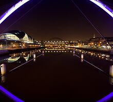 Newcastle Quayside from the Millenium Bridge by Silasgreenback