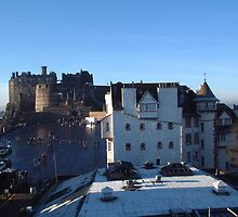 Edinburgh Castle and Ramsay Gardens by rualexa