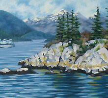 Whytecliff Towards Horseshoe Bay by Kamila Ogonowski