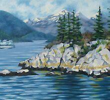 Whytecliff Towards Horseshoe Bay by Kamila Ogonowski