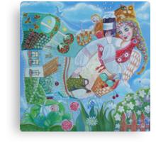 Mom - folk art painting Canvas Print