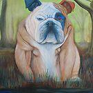 Bulldog In A Bog by Laura Barbosa