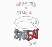 STREAT Coffee on white by STREAT